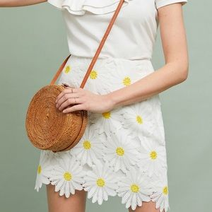 NEW Anthropologie Hutch Daisy Lace Skirt
